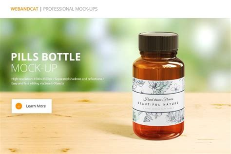 All free mockups include smart objects for easy edit. 19+ Pills Bottle Mockup PSD Free Download for Branding ...