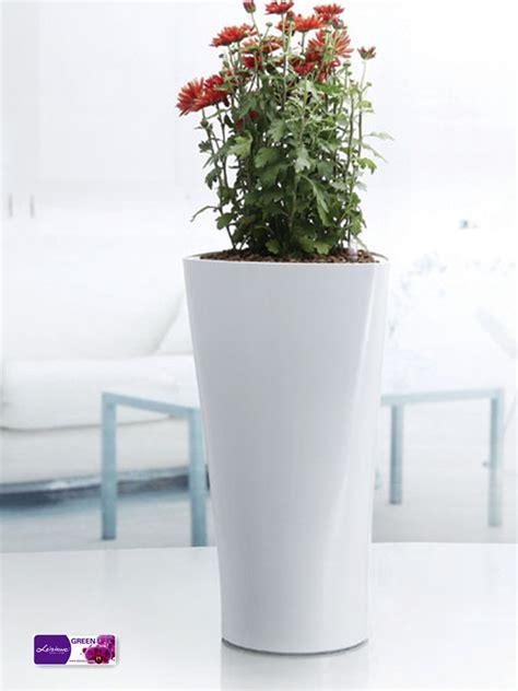 blanc triangle pot de fleur pot de fleur en plastique plantes d int 233 rieur moderne vases pots
