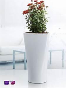 Pot Fleur Interieur : blanc triangle pot de fleur pot de fleur en plastique plantes d 39 int rieur moderne vases pots ~ Teatrodelosmanantiales.com Idées de Décoration