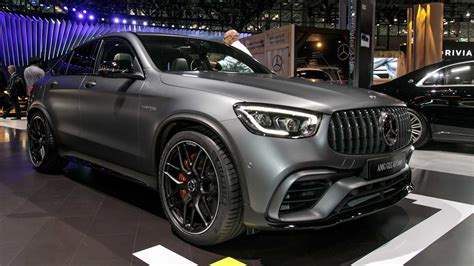 From 0 to 100 km/h in four seconds: Mercedes suv: Mercedes Glc 63 Amg Coupe Black