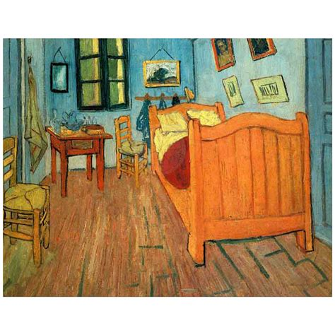 Gogh Bedroom At Arles by 11x14 Wall Featuring Gogh S Bedroom In Arles