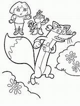 Dora Coloring Swiper Boots Sheets Explorer Fox Play Games Printable Jam Cherry Madrid Barcelona Popular Coloringhome sketch template