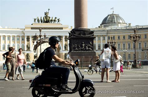 tv producer photo palace square of st petersburg in russia former