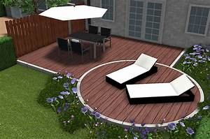 wpc terrassendielen gestaltung mobel ideen und home With feuerstelle garten mit hochbeet balkon obi