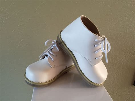 Toddler Shoes : Baby Shoes White Leather Boy Girls Toddler Us Size 4