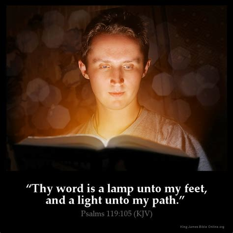 thy word is a l unto my scripture psalms 119 105 inspirational image