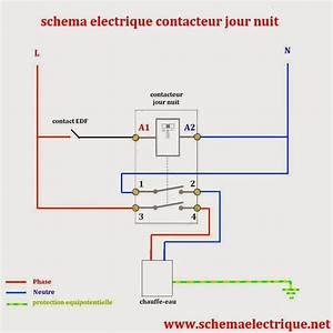 Contact Jour Nuit : schema electrique branchement cablage ~ Farleysfitness.com Idées de Décoration