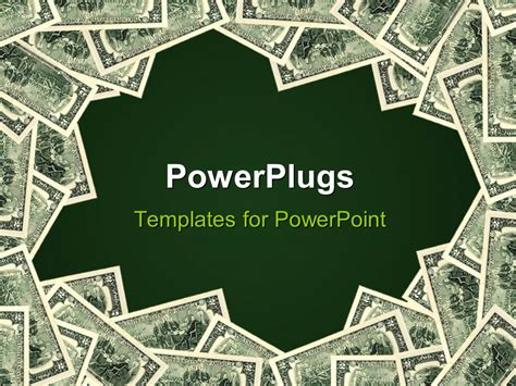 powerpoint template green background framed  piles