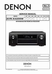 Denon Avr X4200w A  V Receiver Service Manual In 2019