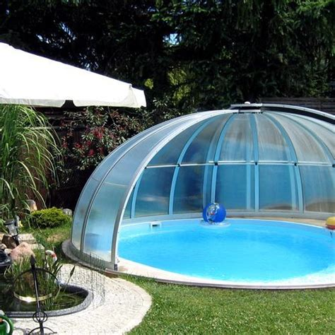 toit de piscine hors sol abri piscine ronde pas cher