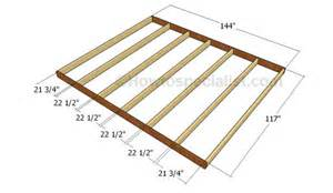 how to frame a floor 10x12 barn shed plans howtospecialist how to build step by step diy plans