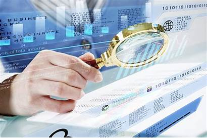 Investigating Financial Space Analysis Magnifier Infographs Person