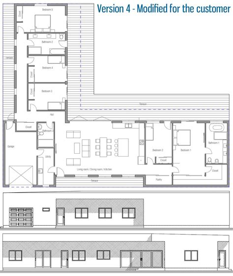 See more ideas about house plans, l shaped house, house floor plans. L shape, masters on opposite ends, garage in the middle | L shaped house, Floor plans, Modern ...
