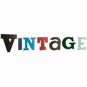 Lettre Metal Vintage : lettres m tal vintage maisons du monde ~ Teatrodelosmanantiales.com Idées de Décoration