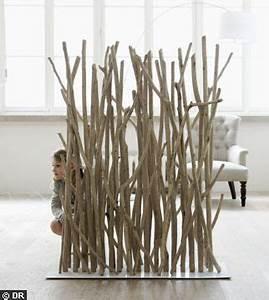 Separateur De Piece Bois : bois le design l 39 tat brut c t maison ~ Teatrodelosmanantiales.com Idées de Décoration