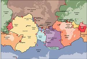 plate boundaries map, plate tectonics — science learning ...