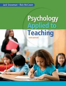 Psychology Applied to Teaching Jack Snowman Free download ...