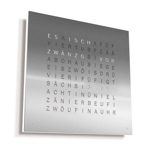 Wanduhr Mit Worten by Wanduhr Zeit In Worten Wohn Design