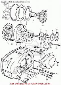 Honda Ca110 Sport 50 1962 Usa Clutch    Right Crankcase