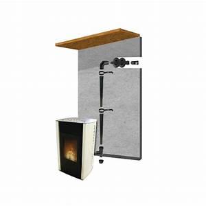 Kit Facade Pour Poêles A Pellets : pack raccordement ventouse noir 80mmm pour po le ~ Premium-room.com Idées de Décoration