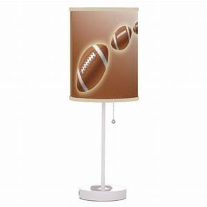 American football brown table lamp sports decor choose for 6 volt table lamp