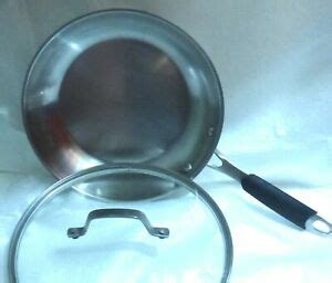 pre owned calphalon   stainless steel skillet