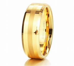 mens tungsten carbide 18k yellow gold wedding band under With mens wedding rings under 100