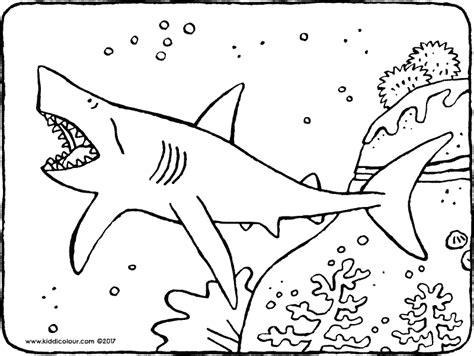 Haai Kleurplaat by Haai Kleurplaat