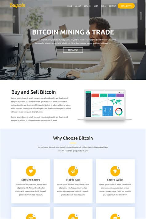 Responsive website design — majority of users comes to a website from mobile or tablets. BuyCoin - Bitcoin And Cryptocurrency Responsive HTML Website Template #67245