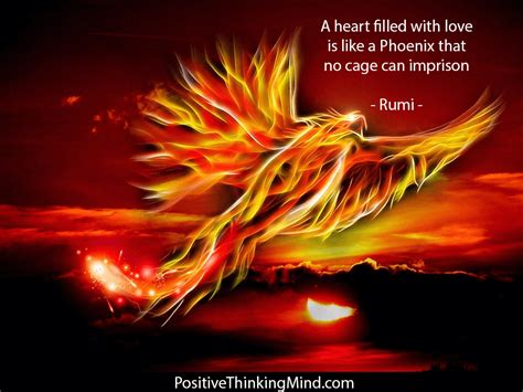 A heart filled with love is like a Phoenix - Rumi