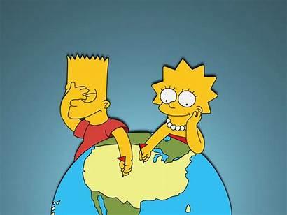 Simpson Simpsons Bart Wallpapers Desktop Lisa 1600