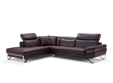 modern brown leather sectional sofa ef194 leather sectionals
