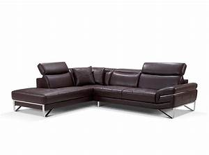 modern brown leather sectional sofa ef194 leather sectionals With modern sectional sofa