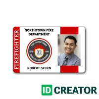 firefighter id card  images id card template