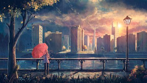 wallpaper sunlight landscape fantasy art sunset city