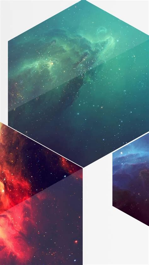 outer space hexagon wallpaper