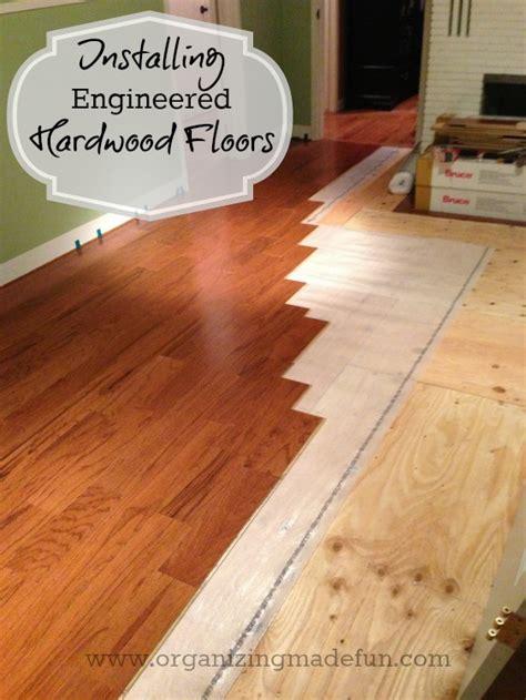 Update  Projects Installing Engineered Hardwood Floors