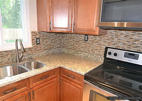 tile backsplash for kitchens with granite countertops brown glass backsplash tile santa cecilia countertops