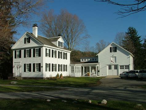 brick colonial house plans new link between historic house and barn