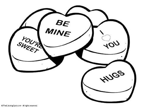 Day Valentine Heart Coloring Pages