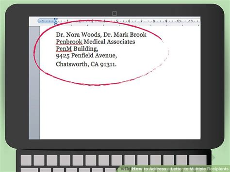 addressing a letter to two how to address a letter to multiple recipients 15 steps