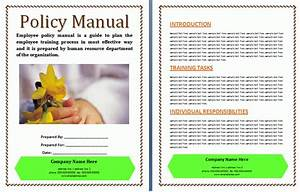 Company Policies And Procedures Template Policies And Procedures Manual Template Free Manual Templates
