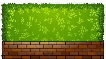 Fence Clipart Brick Plants Clipartpng Outdoor Web