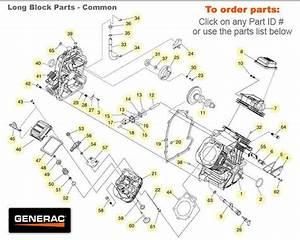 Generac Gtv990 Engines Long Block Common Parts