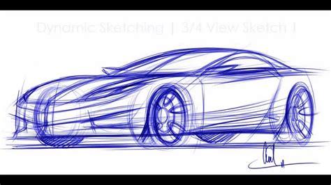 Sketching A Car In 3-4 View Vid 1