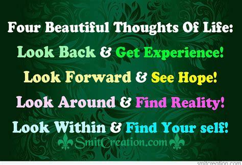 Four Beautiful Thoughts Of Life - SmitCreation.com