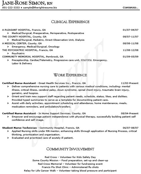 Bsn Rn Resume Sle by Resume Rn Sales 28 Images Ob Gyn Nursing Resume Sales Nursing Lewesmr Nursing Cv Template