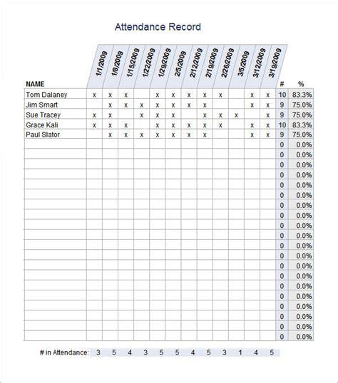 attendance template 16 attendance sheet templates pdf word excel sle templates