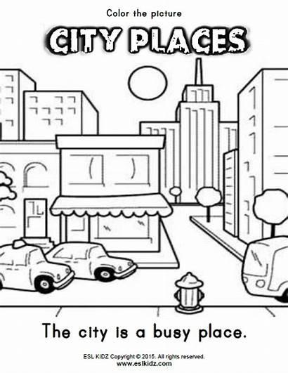 Places Worksheets Activities Community Kindergarten Activity English