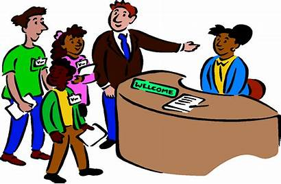 Clipart Receptionist Animated Transparent Counselor Office Student